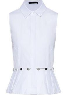 Alexander Wang Woman Cutout Cotton-poplin Top White