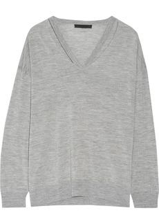 Alexander Wang Woman Cutout Merino Wool Sweater Gray