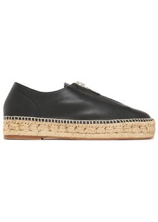 Alexander Wang Woman Devon Leather Espadrilles Black