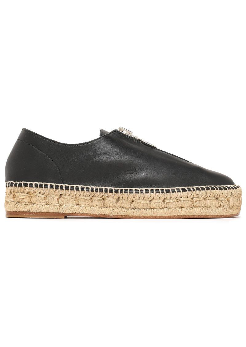 Alexander Wang Woman Devon Leather Espadrilles Black