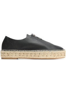 Alexander Wang Woman Devon Pebbled-leather Espadrilles Black