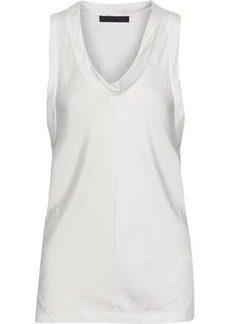 Alexander Wang Woman Draped Satin Top White