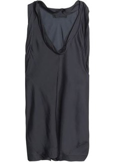 Alexander Wang Woman Draped Satin Top Black