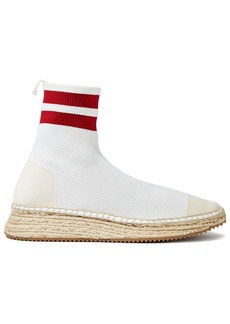 Alexander Wang Woman Dylan Stretch-knit Sock Boots White