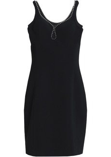 Alexander Wang Woman Embellished Crepe Mini Dress Black