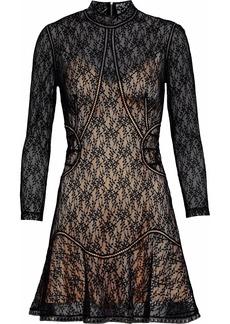 Alexander Wang Woman Embellished Lace Mini Dress Black