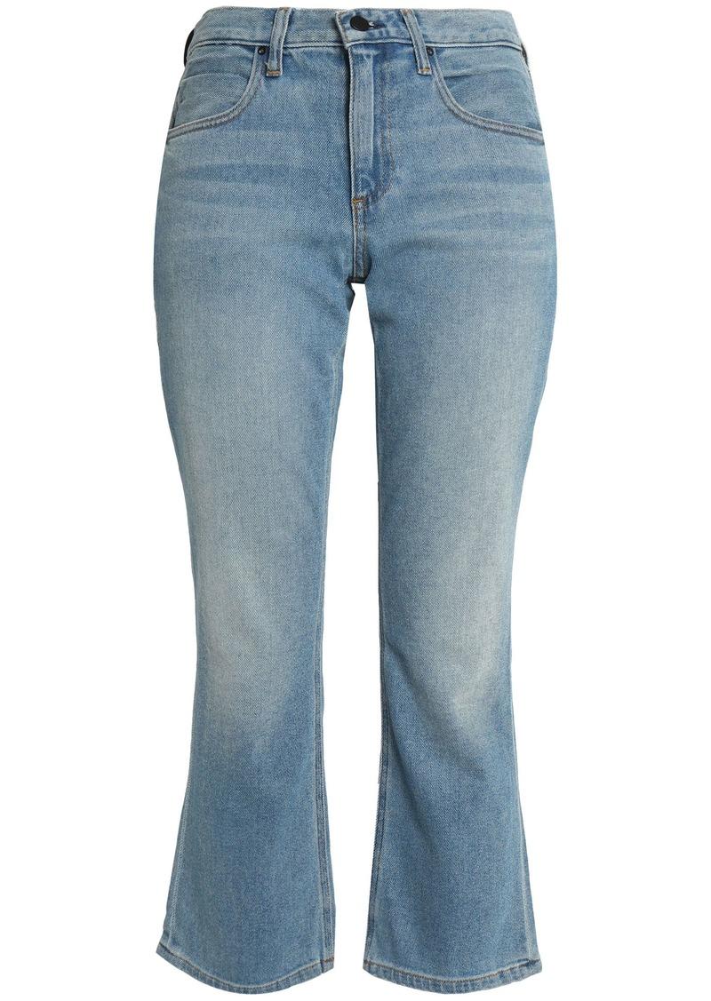 Alexander Wang Woman Faded Mid-rise Kick-flare Jeans Light Denim