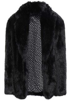 Alexander Wang Woman Faux Fur Jacket Black