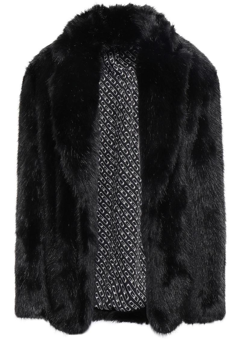 Alexander Wang Woman Faux Fur Jacket Black