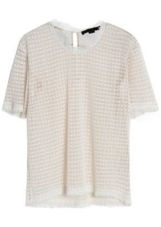 Alexander Wang Woman Frayed Macramé Top White