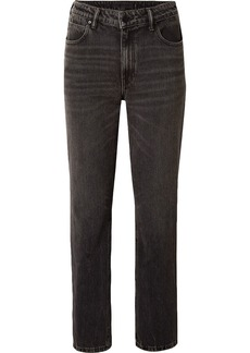 Alexander Wang Woman High-rise Straight-leg Jeans Charcoal