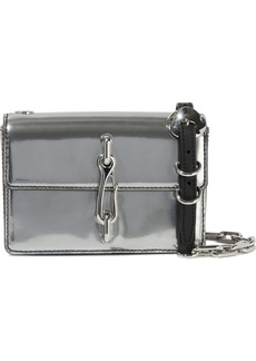 Alexander Wang Woman Hook Mirrored-leather Shoulder Bag Silver
