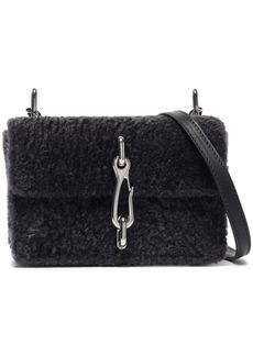 Alexander Wang Woman Hook Shearling Shoulder Bag Dark Gray