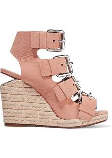 Alexander Wang Woman Jo Nubuck Wedge Sandals Blush