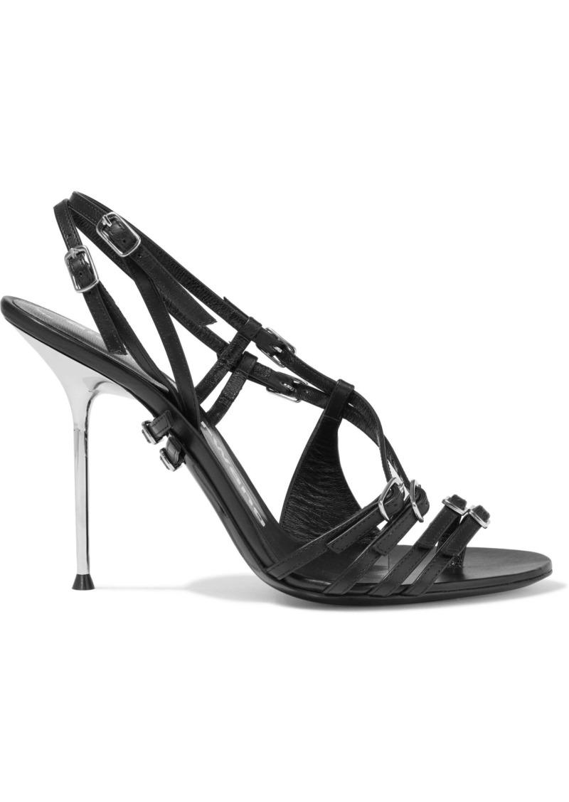Alexander Wang Woman Kayla Buckled Leather Sandals Black