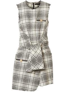 Alexander Wang Woman Knotted Cotton-blend Bouclé-tweed Mini Dress Ivory