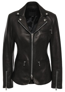 Alexander Wang Woman Leather Biker Jacket Black