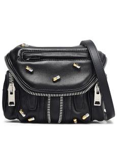 Alexander Wang Woman Marti Micro Embellished Textured-leather Shoulder Bag Black