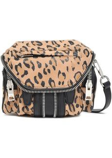 Alexander Wang Woman Marti Zip-embellished Leopard-print Suede And Leather Shoulder Bag Animal Print