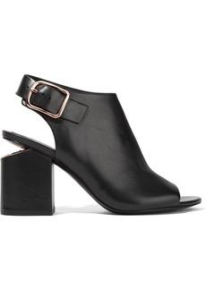 Alexander Wang Woman Nadia Cutout Leather Slingback Sandals Black