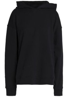 Alexander Wang Woman Oversized Appliquéd French Cotton-terry Hoodie Black