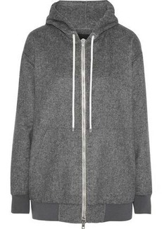 Alexander Wang Woman Oversized Fleece Hoodie Gray