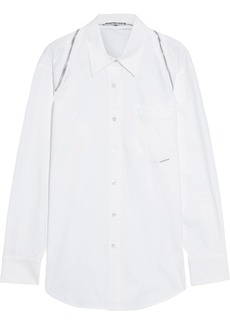 Alexander Wang Woman Oversized Zip-detailed Cotton-twill Shirt White