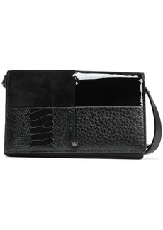 Alexander Wang Woman Patchwork Leather And Suede Shoulder Bag Black
