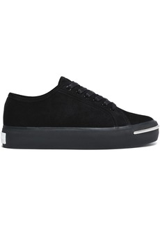 Alexander Wang Woman Pia Suede Sneakers Black