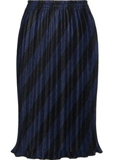 Alexander Wang Woman Pleated Striped Mesh Skirt Multicolor