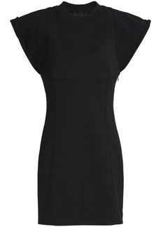 Alexander Wang Woman Ponte Mini Dress Black