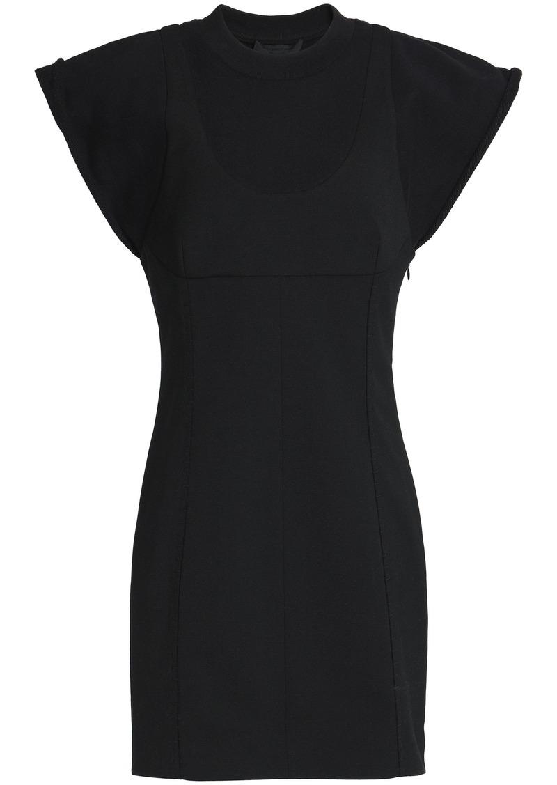 Alexander Wang Woman Ponte Mini Dress Black