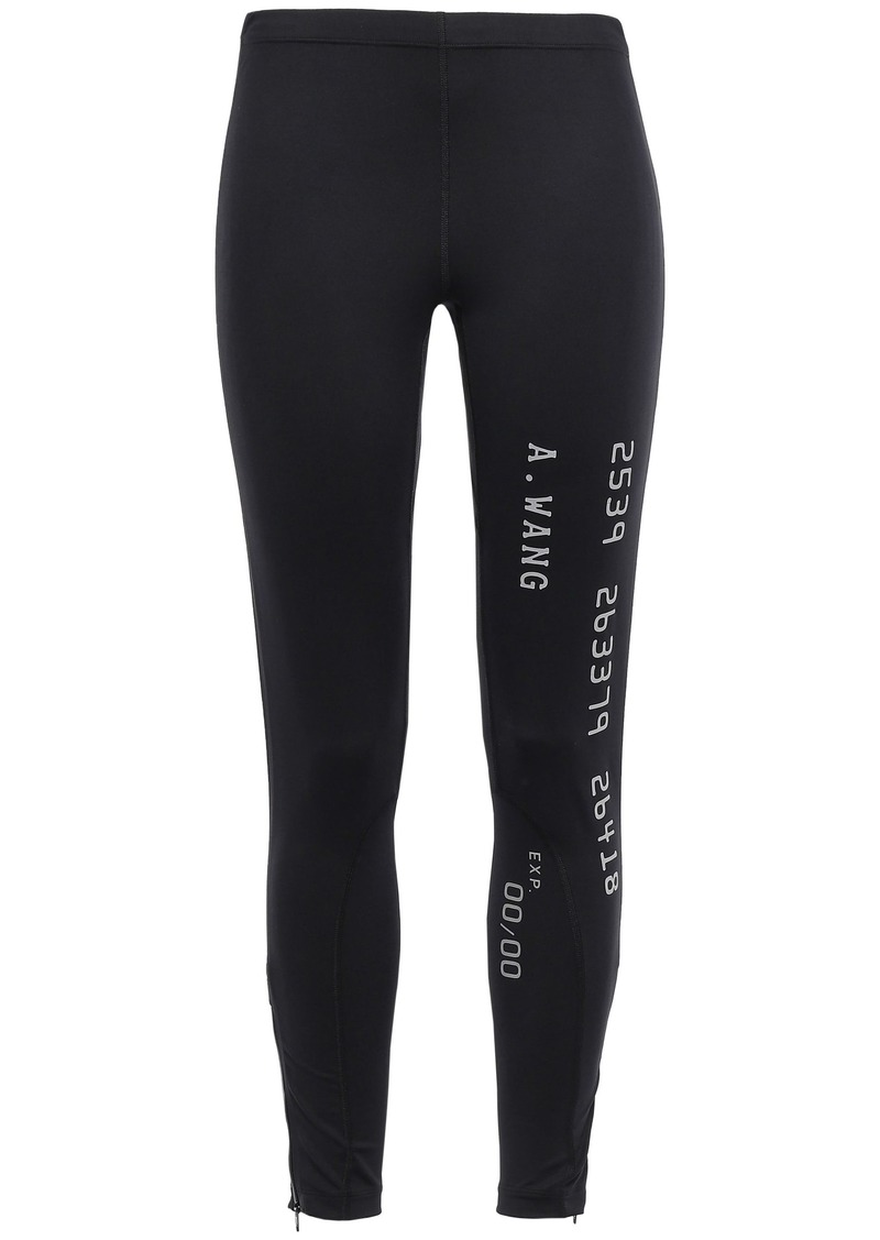 Alexander Wang Woman Printed Stretch Leggings Black