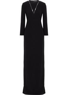 Alexander Wang Woman Pvc-paneled Cutout Crepe Gown Black