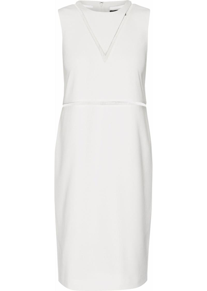Alexander Wang Woman Pvc-trimmed Cutout Crepe Dress Ivory