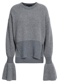 Alexander Wang Woman Ribbed-knit Sweater Gray