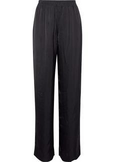 Alexander Wang Woman Satin-jacquard Straight-leg Pants Black