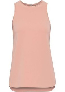Alexander Wang Woman Satin-trimmed Crepe Top Blush