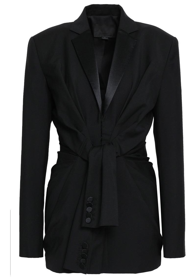 Alexander Wang Woman Satin-trimmed Wool And Mohair-blend Blazer Black