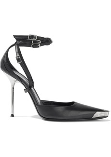 Alexander Wang Woman Selena Embellished Leather Pumps Black