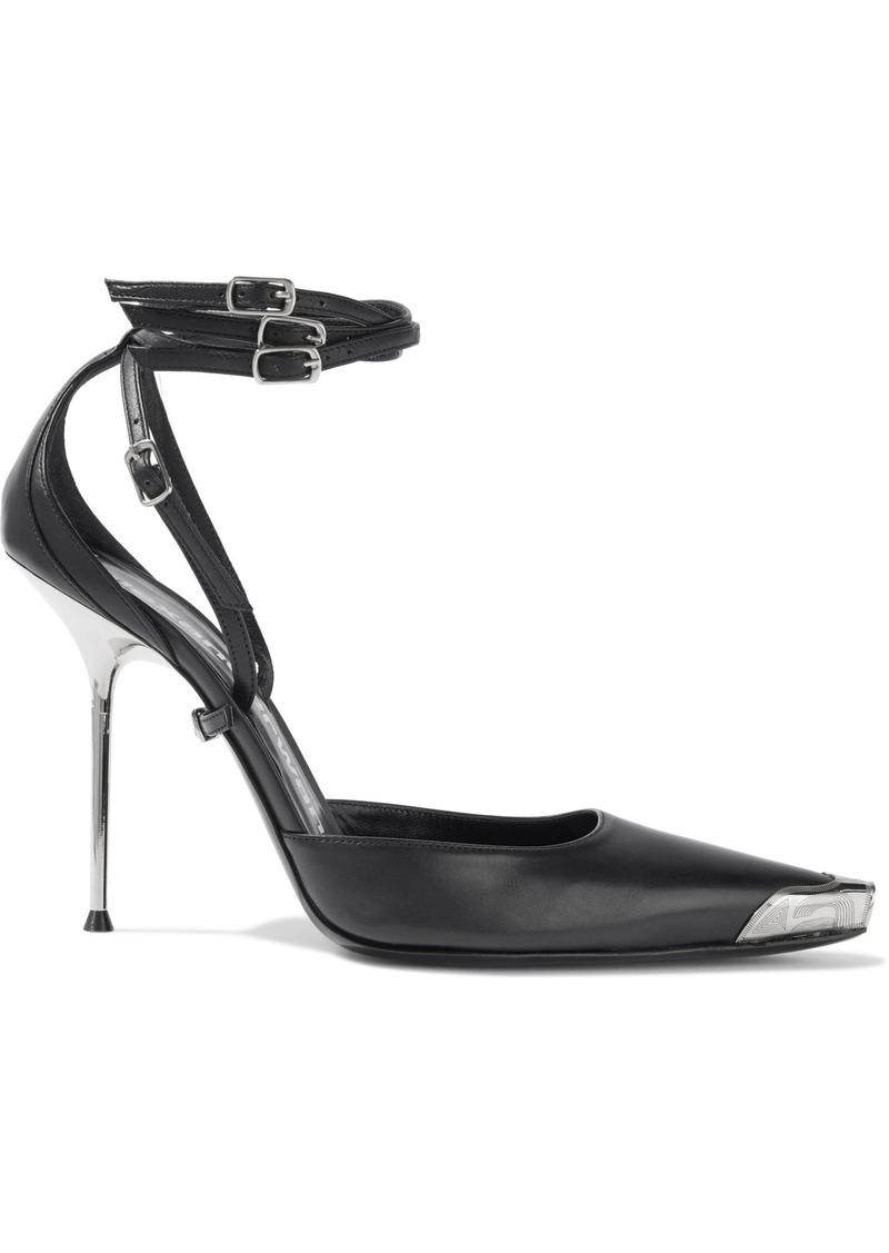 Alexander Wang Woman Selena Embellished Leather Pumps Black