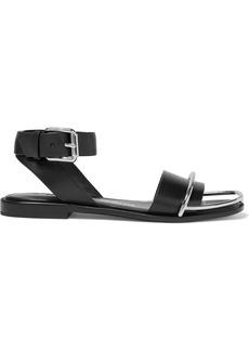 Alexander Wang Woman Sora Embellished Leather Sandals Black