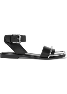 Alexander Wang Woman Sora Embellished Leather Sandals Black