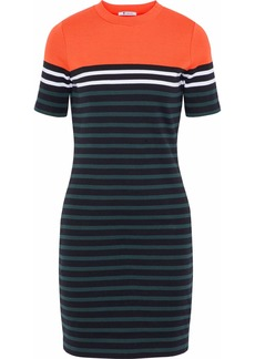 Alexander Wang Woman Striped Stretch-cotton Mini Dress Multicolor
