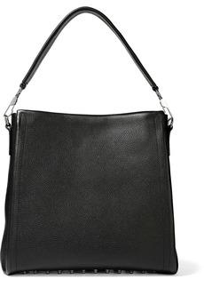 Alexander Wang Woman Studded Textured-leather Shoulder Bag Black