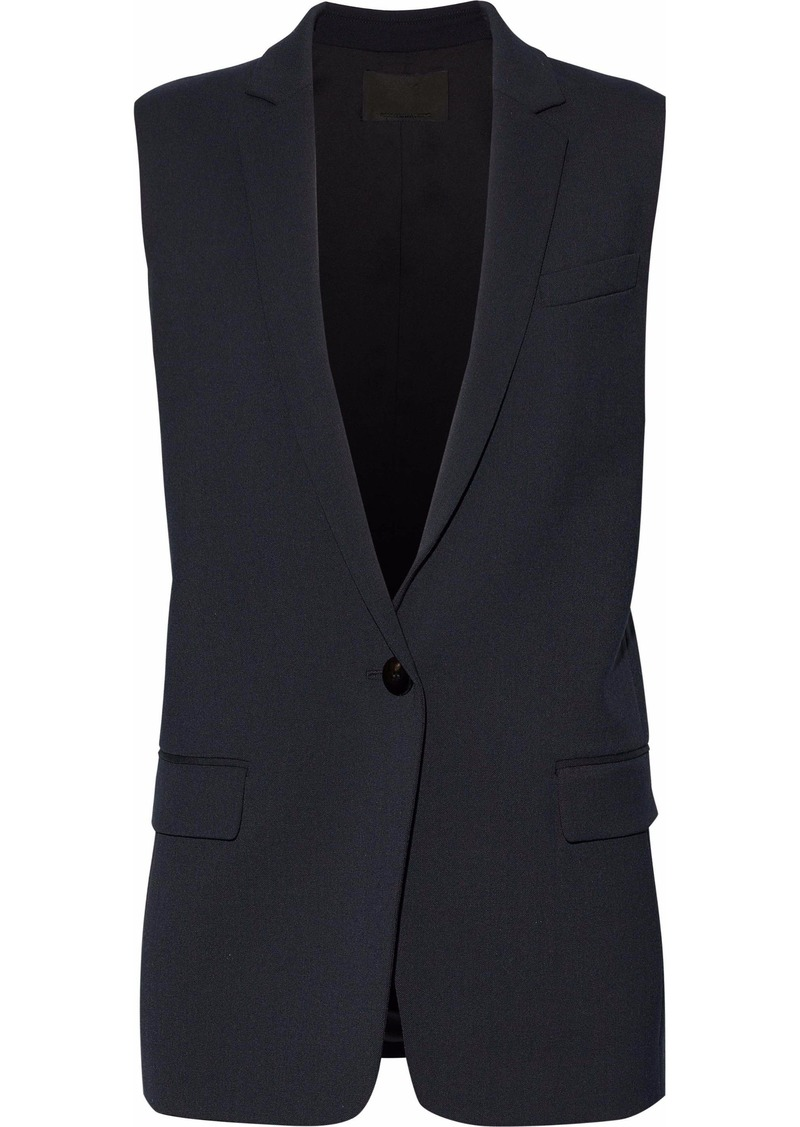 Alexander Wang Woman Twill Vest Midnight Blue