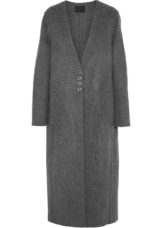 Alexander Wang Woman Wool And Cashmere-blend Felt Coat Anthracite
