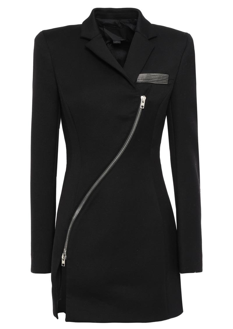 Alexander Wang Woman Zip-detailed Woven Blazer Black