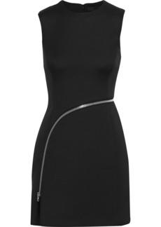 Alexander Wang Woman Zip-detailed Cady Dress Black