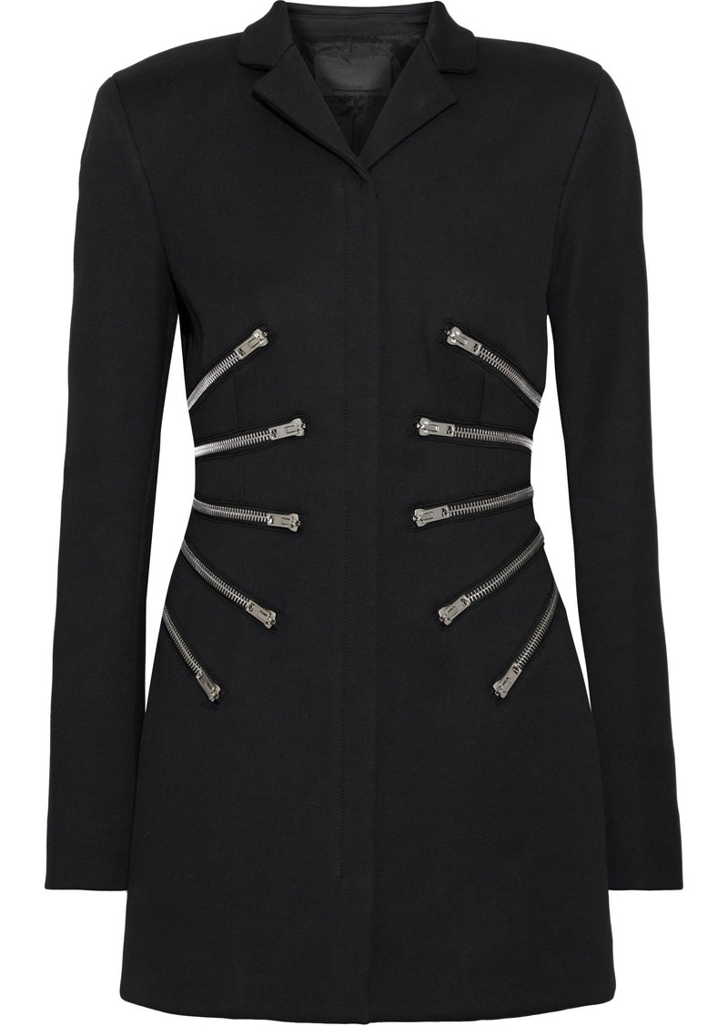 Alexander Wang Woman Zip-detailed Cady Jacket Black
